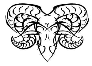 Zodiac Tattoo Designs With Image Zodiac Symbol Picture Aries Tribal Tattoo 7