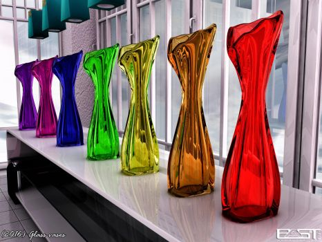 Glass vases by PaSt1978