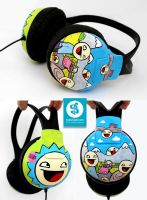 Awesome Smiley headphones by Bobsmade