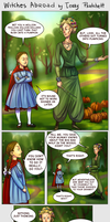 Witches Abroad_The little girl in the red cloak by BlackBirdInk