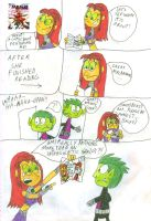 Starfire Reads Red Hood and the Outlaws by SithVampireMaster27