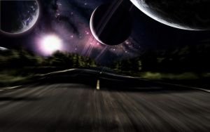 Galaxy Road Night by wallybescotty