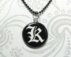 Death Note - Kira Necklace by DragonsAndBeasties