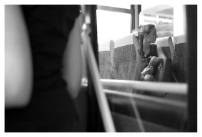 a girl on a bus by Zenhead