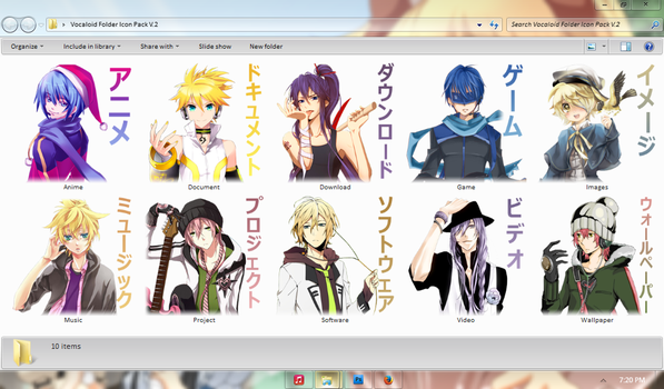 Vocaloid Folder Icon Pack V.2 by Aven-23