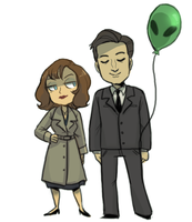 Mulder is a dork by Super-Cute