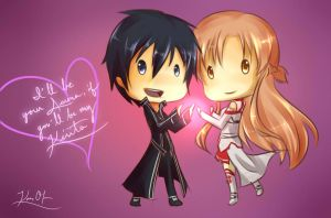Happy Valentine's Day from Kirito and Asuna by KanraKami