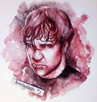 Watercolor - Dean Ambrose. by Artbynash