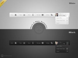 Black and White Navigation UI Kit by neme313