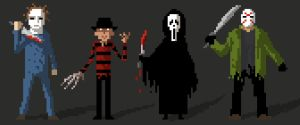 Bad guys from hell on pixel by peerro