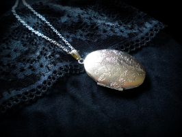 Locket necklace by Here-is-MaryLou