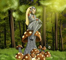 Her Mechanical Mushrooms by JayoMarvel