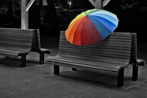 Colourfull brolly by Funbeast