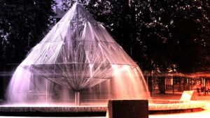 Canberra Times Fountain - Long Exposure by DOOMGUY1001