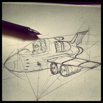 Aircraft Sketch by ujangzero