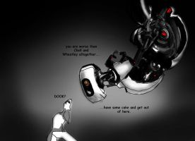 Ferretz vs GladOS by Foxia