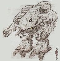 Assault Mech Angriffer PzM-VII by Shabazik