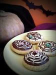Halloween spider web cookies by MeYaIeM