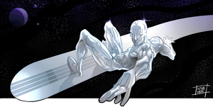 Another Silver surfer by Nezart