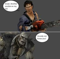 Injustice: Ash Williams vs Solomon Grundy by xXTrettaXx