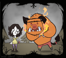 Don't Starve Style Emzie and Gamun by EmzieTowers