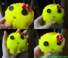 Yellow Ghost Plushie by LifeStorme