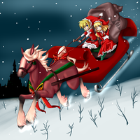 Christmas in Hyrule by tehgamesayshi