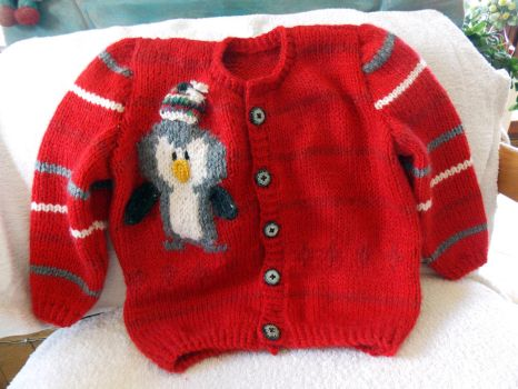 Children Penguin Sweater by Woolydesigns