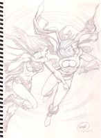 Supergirl Vs Powergirl by pipin