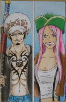 Trafalgar law and Jewelry Bonney by martylovespinkfloyd
