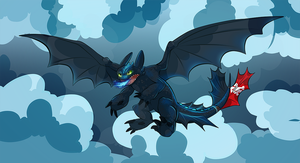 Rage Toothless by AppleRat
