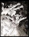 Captain Barbell and Darna by manapul