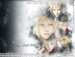 Cloud Strife grey Walle by areemus