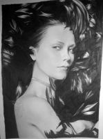Christina Ricci with Feathers by looking-at-the-stars