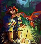One pirate and two parrots by Pendalune
