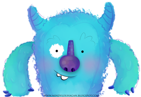 Silly blue monster by SuzyQ2pie