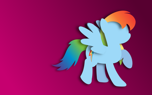 Stylized Rainbow Dash Wallpaper by mattbas