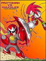 Crossover Proto Man Vs Knuckles Round 2 by MrTumminia