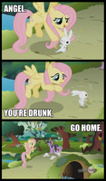 Good Name for a Pony Pub: 'The Drunken Rabbit' by DanielDC88