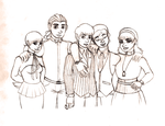 Character Drawcember: the Delphine Daphne's Crew by AEIOUworks
