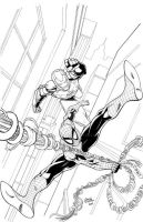 Spiderman Iron Man inks by seanforney