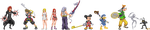 Kingdom Hearts 2.5 Sprites by KingdomTriforce