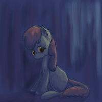 Applebloom in blue - Request #3 by Popprocks