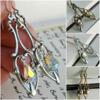 antique spoon earrings by JuleeMClark