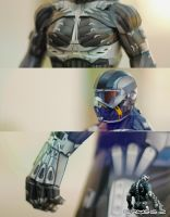 Crysis 2 - Nanosuit 2.0 Papercraft by suraj281191