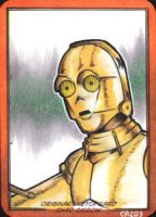 clone wars c3P0 sketch card by ccicconi