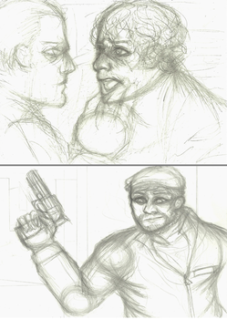 2/6 Art Trades (WIP) by NOTEBLUE13