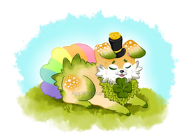 (CLOSED)|| St. Patrick's Day  Pup by Appleminte