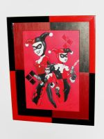 Harley Quinn Framed by Joker-laugh