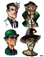 Bat Villains 3 colored by Balsavor